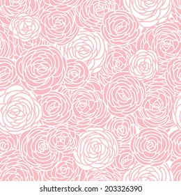 Vector vintage inspired seamless floral pattern with roses