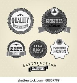 Vector vintage labels, discount labels set