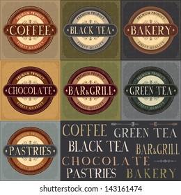 Vector vintage labels set