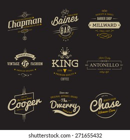Vector vintage labels. Templates Set for banner, insignias, business brand design.