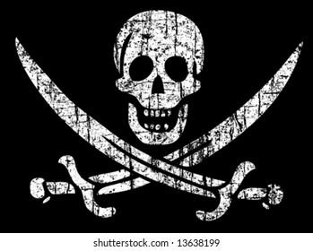 Vector Vintage pirate flag