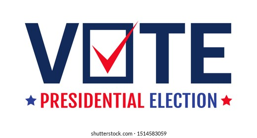 Vector vintage poster for 2020 presidential election in USA. Election 2020. Vote 2020.