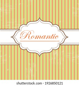 Vector vintage retro background. Template for wedding invitations, retro frame, greeting cards, label, cover.