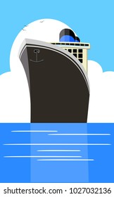 Vector vintage retro classic travel vacation cruise poster with copy space