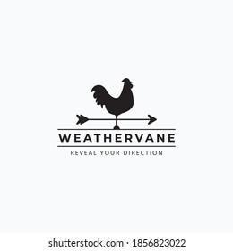 Vector of vintage rooster weathervane logo illustration design