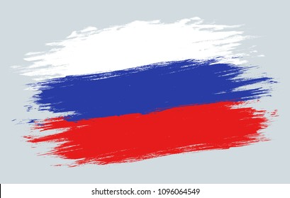 Vector vintage Russian flag.