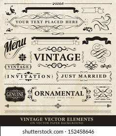 Vector vintage style elements