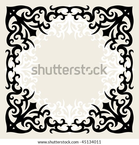 Vector Vintage Template Frame Gothic Style Stock Vector (Royalty ...