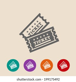 Vector Vintage Ticket Icon on background