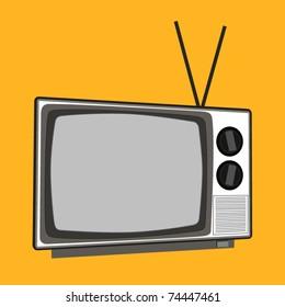 vector vintage tv set