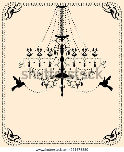 Vector vintage wedding card