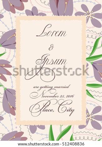 vector vintage wedding invitation torn paper stock vector royalty