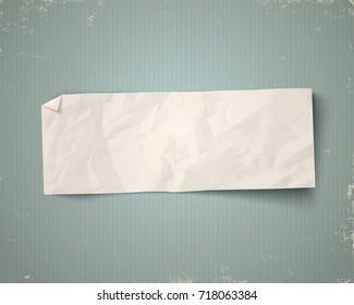 Vector vintage white paper on vintage background. White paper ad on old paper background.