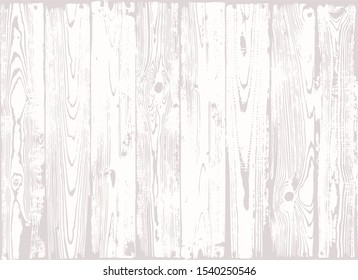 Vector vintage white wooden planks texture. Shabby chic background for food photography. Light wood table, top view. Rustic wooden wall texture. Old natural wooden pattern.Washed wood texture.