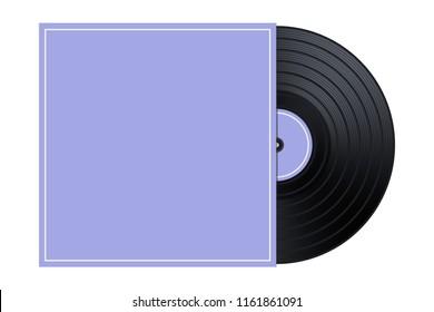 Vector Vinyl in the Box / Cover Mockup / Template Illustration