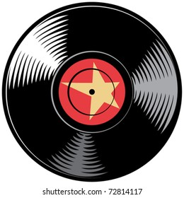 vector vinyl disc (record)