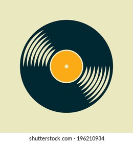 Vector vinyl record icon. Eps10