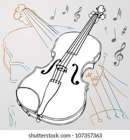 Vector violin background