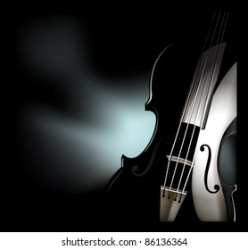 vector violin instrument graphic
