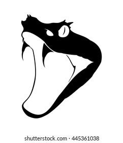 Vector viper snake head logo.