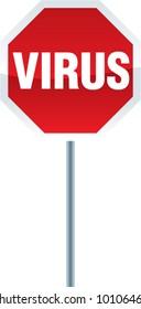 vector VIRUS stop sign