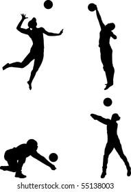 vector volleyball