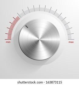 Vector volume knob.