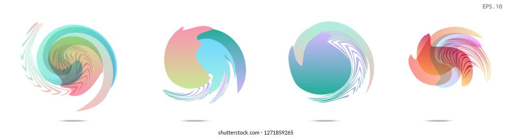 Vector vortex with a white background