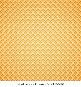 Vector Waffle Background. Vector Illustration.