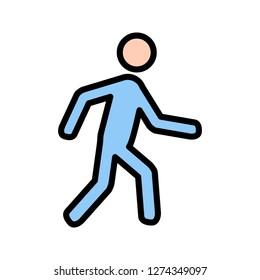 Vector Walking Icon