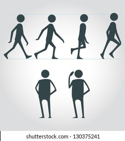 Vector Walking Man Cycle