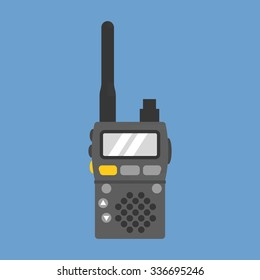 Vector walky talky, flat design
