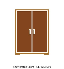 vector wardrobe illustration isolated, furniture closet