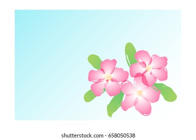 vector water color pink yarrow, azalea flower. abstract floral illustration.
