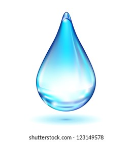 Vector water drop isolated on white background