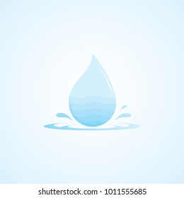 vector water drops icon