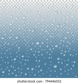 vector Water drops on glass. rain drops.