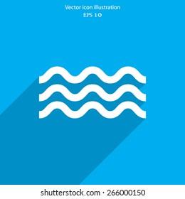 Vector water flat icon illustration.