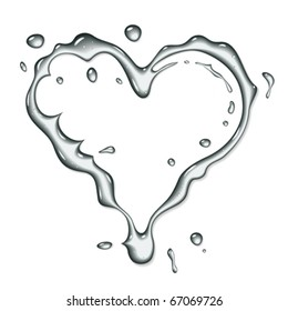 Vector water heart symbol