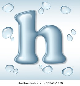 Vector water letter h