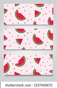 vector water melon   banner background,esp10