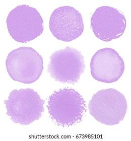 Vector watercolor abstract circle background. Circle watercolor texture