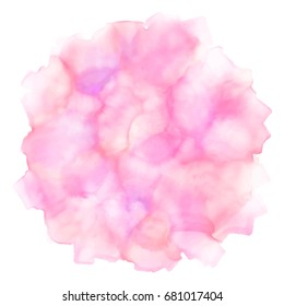 Vector watercolor abstract pink texture background