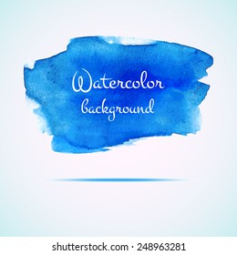 Vector watercolor background. Abstract watercolor hand drawn stain. Element for your design.