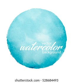 Vector watercolor background. Hand painted  abstract design.