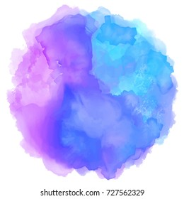 Vector watercolor circle abstract background