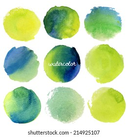 Vector watercolor circles