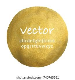 Vector watercolor gold circle