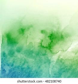 Vector. Watercolor gradient background texture. Watercolor texture for your design, logo, emblem, banner.