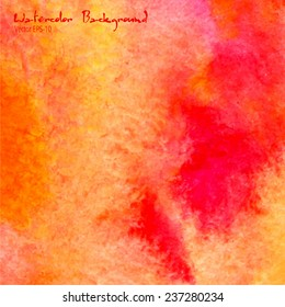 vector watercolor illustration pink and orange abstract background